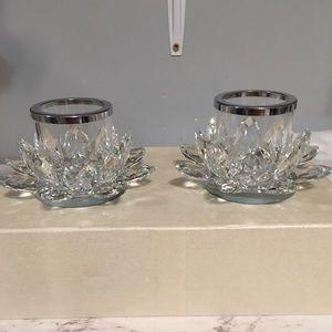 Hyaline Amp Dora Accents Hd Crystal Glass Tea Light Holders